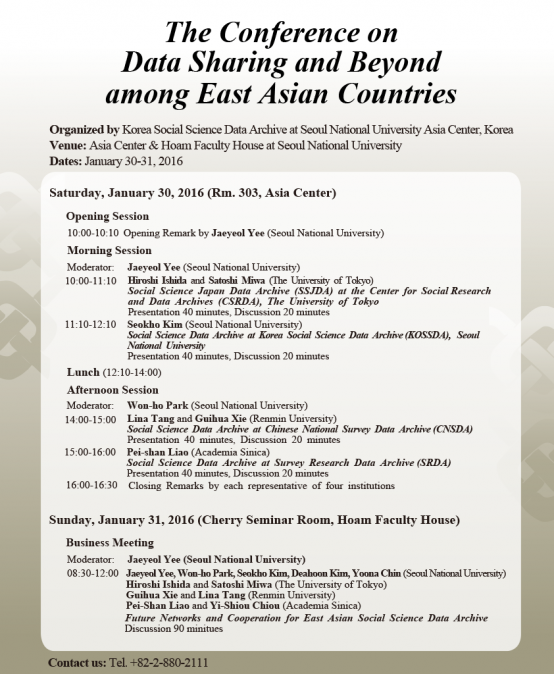 The Conference on Data Sharing and Beyond among East Asian Countries