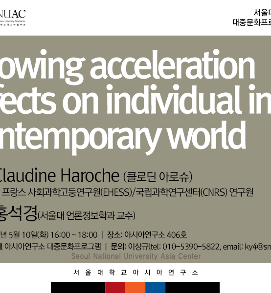 Growing acceleration effects on individual in contemporary world