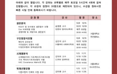 [공지] 한국사회과학자료원 2016 추계 방법론 단기강좌 안내