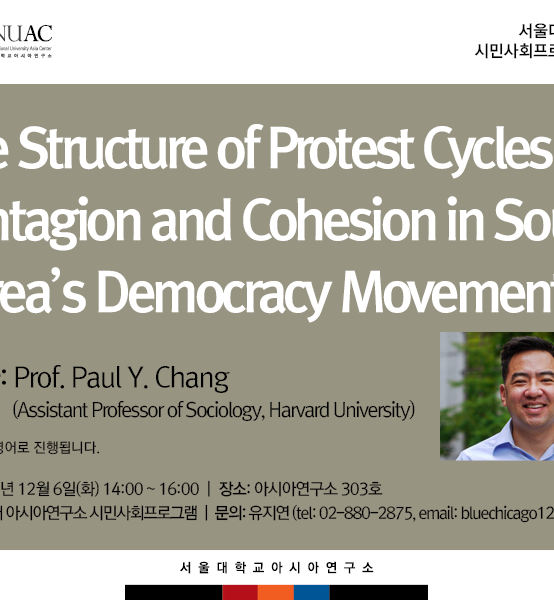 The Structure of Protest Cycles: Contagion and Cohesion in South Korea's Democracy Movement