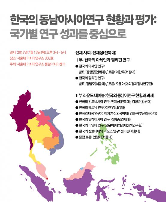한국의 동남아시아연구 현황과 평가: 국가별 연구 성과를 중심으로