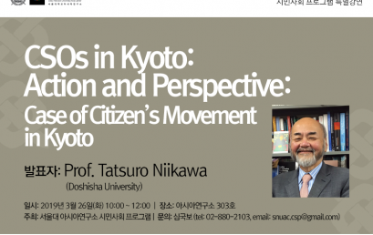 CSOs in Kyoto: Action and Perspective: Case of Citizen's Movement in Kyoto