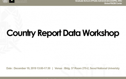 Country Report Data Workshop