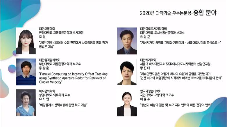 [소식] 아시아도시사회센터 황진태 선임연구원,  제 30회 과학기술우수논문상 수상