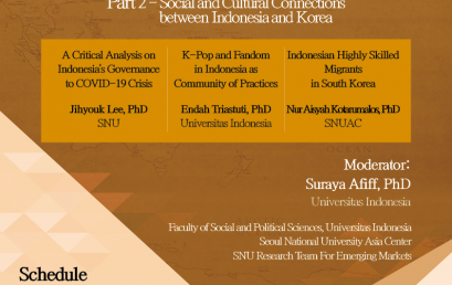 Social and Cultural Connections between Indonesia and Korea