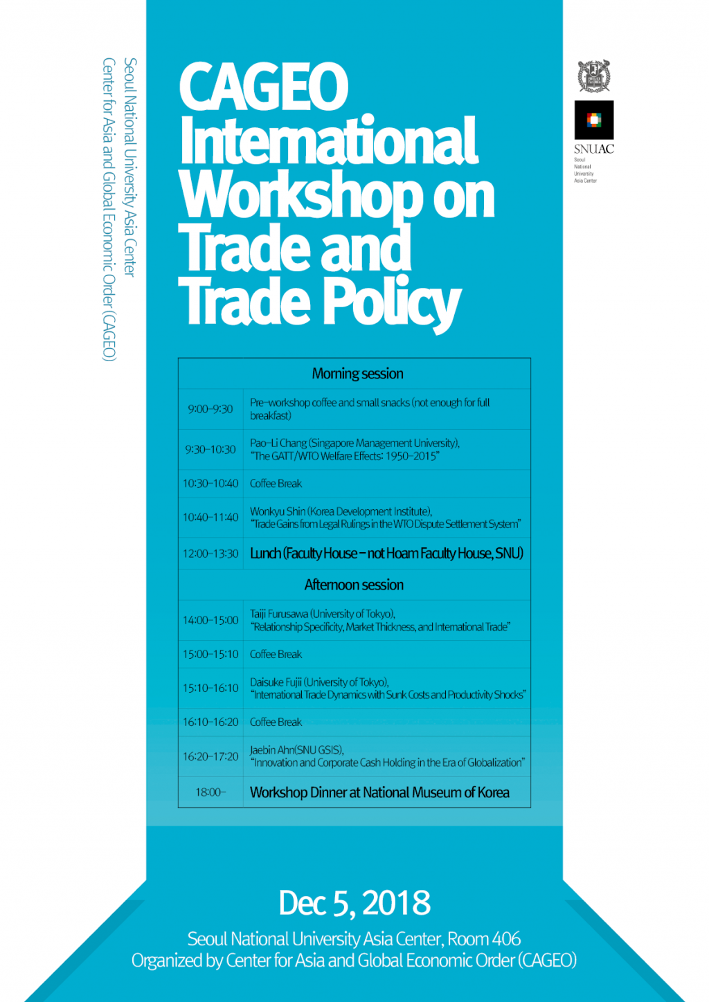 CAGEO International Workshop on Trade and Trade Policy