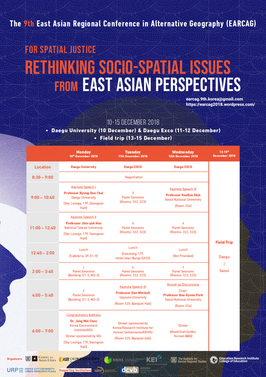 9th East Asian Regional Conference in Alternative Geography (EARCAG)