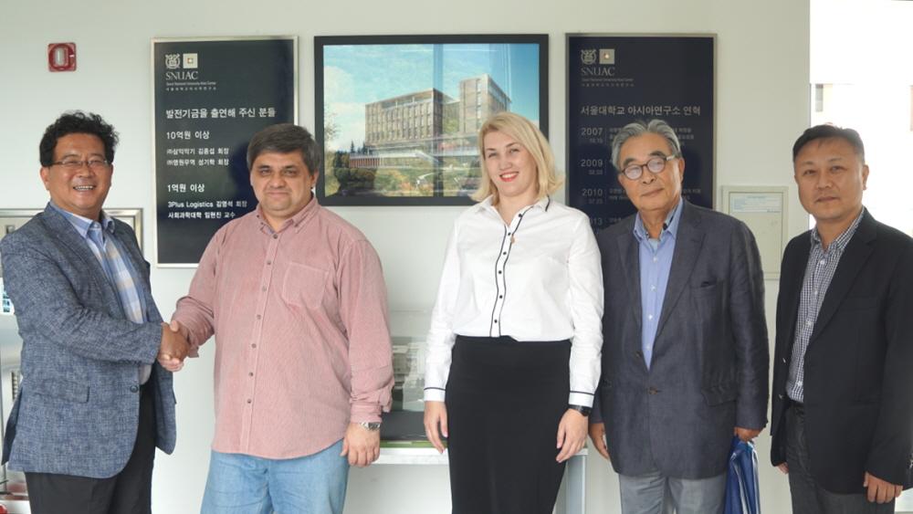 Representatives from International Institute for Economics and Linguistics, Irkutsk State University, Russia, Visit SNUAC