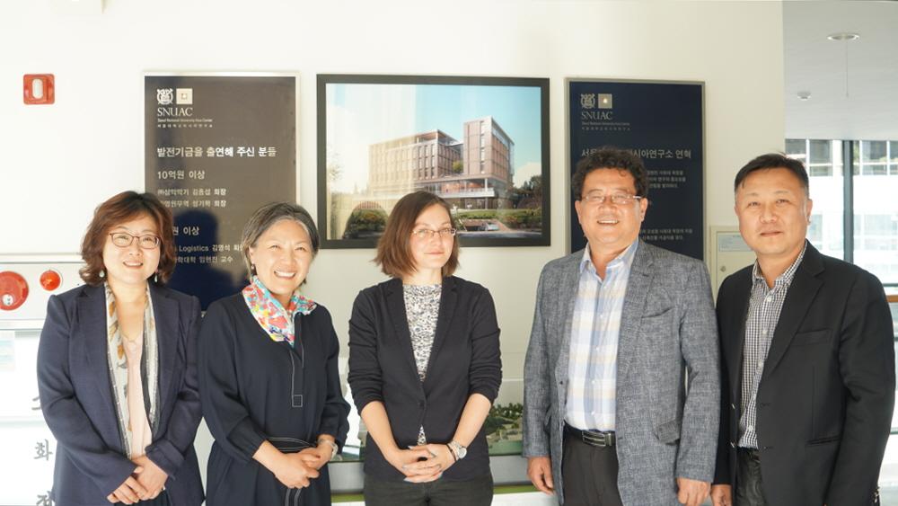 Representatives from University of Edinburgh Visit SNUAC