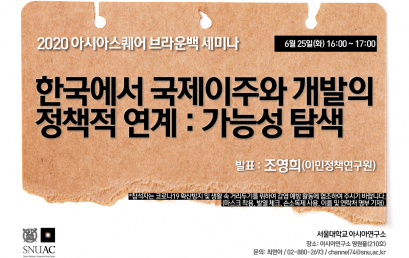 한국에서 국제이주와 개발의 정책적 연계 : 가능성 탐색