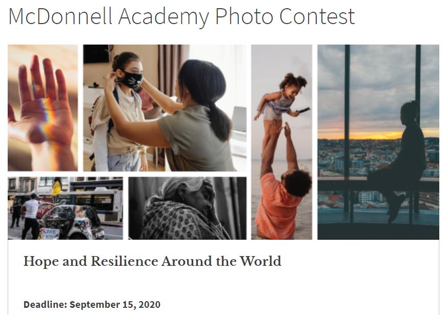 McDonnell International Scholars Academy, 온라인 사진대회 개최