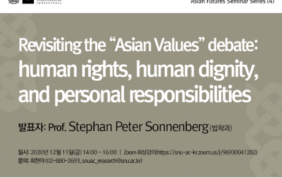 "Revisiting the ""Asian Values"" debate: human rights, human dignity, and personal responsibilities"