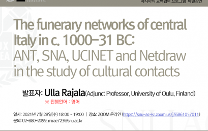 The funerary networks of central Italy in c. 1000-31 BC:  ANT, SNA, UCINET and Netdraw in the study of cultural contacts