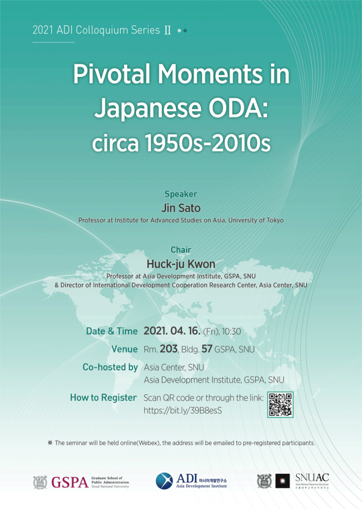 Pivotal Moments in Japanese ODA: circa 1950s – 2010s
