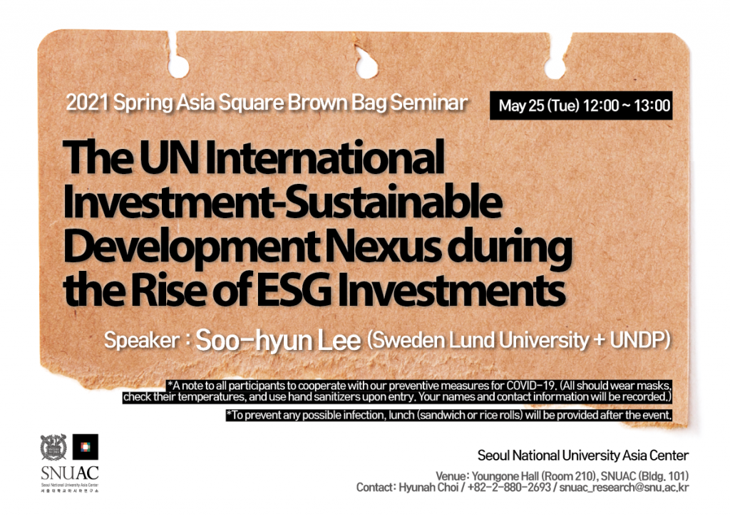 The UN International Investment-Sustainable Development Nexus during the Rise of ESG Investments