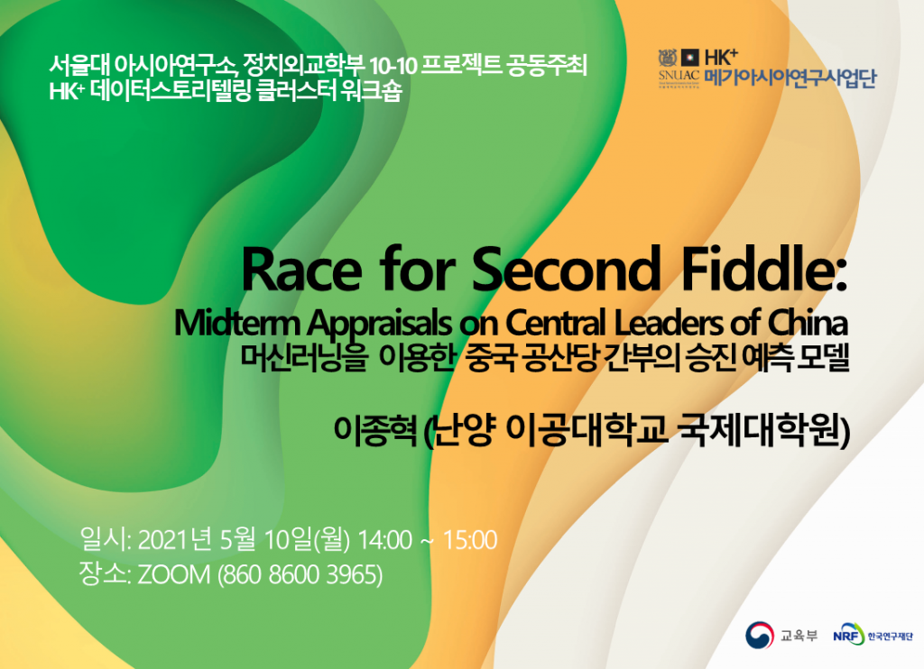 Race for Second Fiddle: Midterm Appraisals on Central Leaders of China